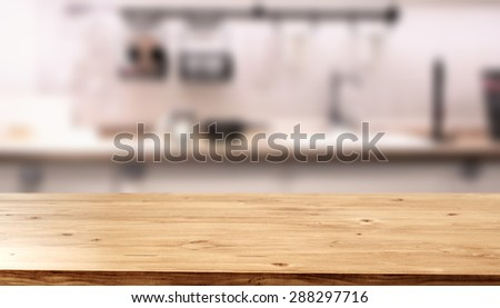 wooden top kitchen room and free space