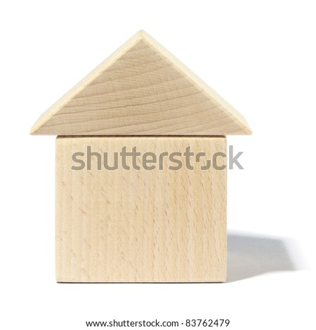 Wooden toy house.