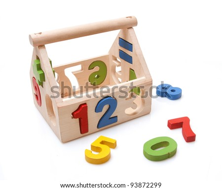 wooden toy on white background