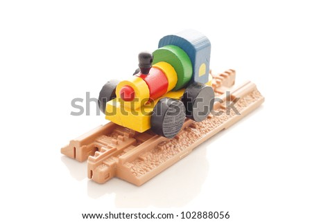 Plastic Toy Train Tracks Wooden toy train on plastic