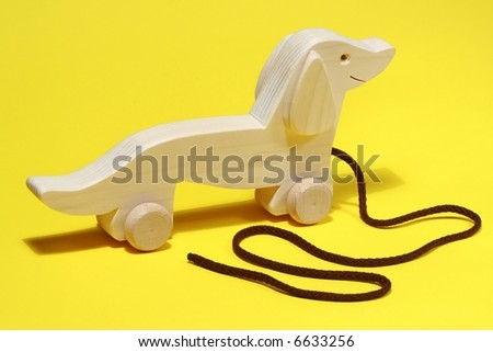 Wooden toys on  colorful background #6633256