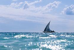 Wooden Traditional Boats at Nungwi/Zanzibar/Tanzania, fishing boats