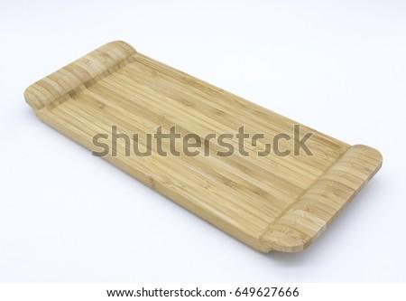 Wooden Tray Stok fotoğraf ©