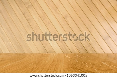 Free photos Old vintage planked wood table in perspective Brown
