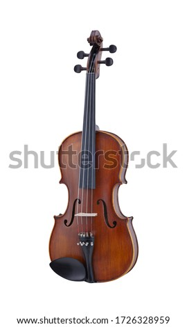 Wooden Viola, Violas Strings Music Instrument Isolated on White background 3D rendering Сток-фото ©