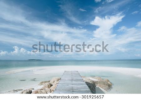 wooden walkway on the beach