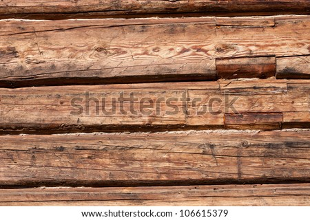 Wooden wall of old house in countryside