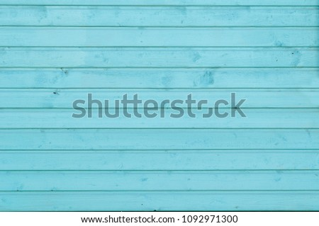 wooden wall of turquoise color #1092971300