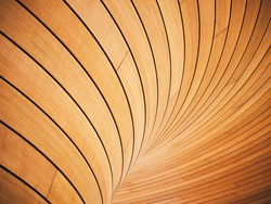Wooden wall Tiles curve texture Architecture details interior decoration