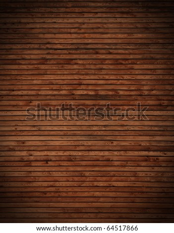 wooden wall used as  background - stock photo