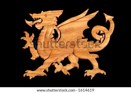 Wooden Welsh Dragon