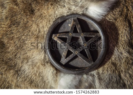 Wooden Witch Pentagram or Pentacle