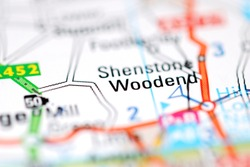 Woodend on a geographical map of UK