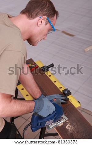 woodworker working
