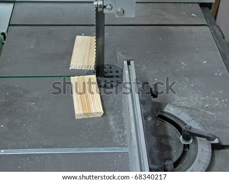 Woodworking machine. Woodworking tool. Woodworking saw. Band saw machine.