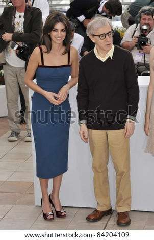 "Woody Allen & Penelope Cruz at the photocall for ""Vicky Cristina Barcelona"" at the 61st Annual International Film Festival de Cannes. May 17, 2008  Cannes, France. Picture: Paul Smith / Featureflash"