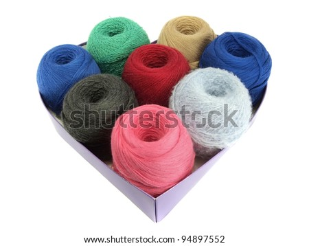 wool balls on a white background
