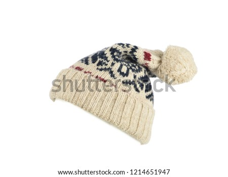 252f6736f23 Wool beanie hat isolated on white background