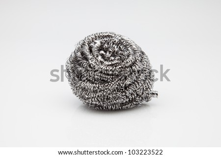 wool cleaning rubbing aluminum shavings