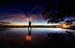 Wool Spin Long Exposure Photography