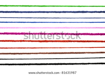 Wool strings isolated on white