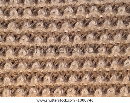 Wool surface three, close-up - stock photo