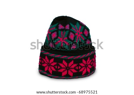 woolen cap - stock photo