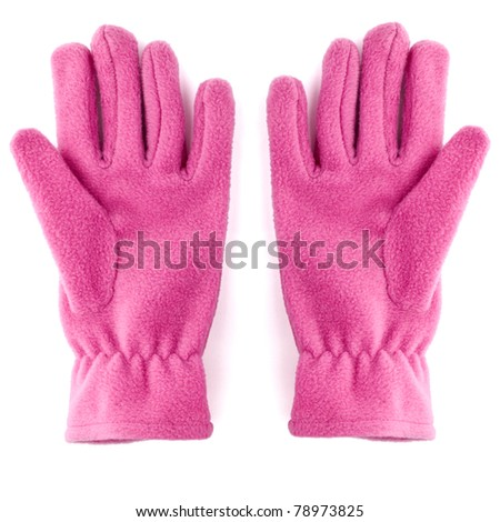 woollen gloves isolated on white