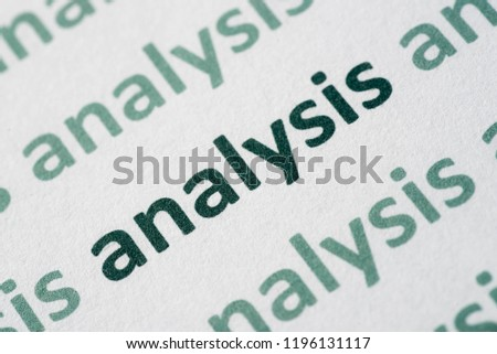 definition of analysis in english