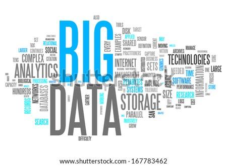 Word Cloud Big Data Foto stock ©