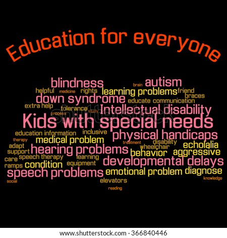 Free Photos Word Cloud Collage Children With Special Needs