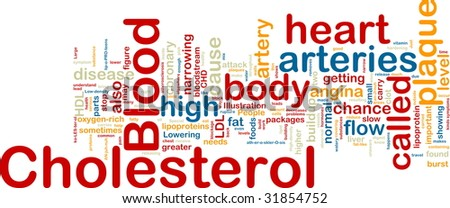 Word cloud concept illustration of  blood cholesterol