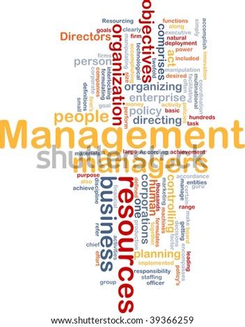 Word cloud concept illustration of business management