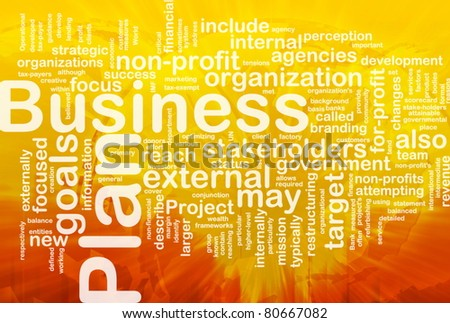 Word cloud concept illustration of business plan international