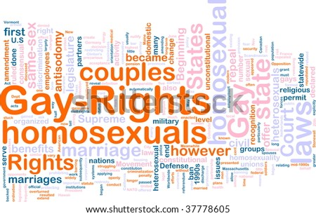 Word cloud concept illustration of gay rights