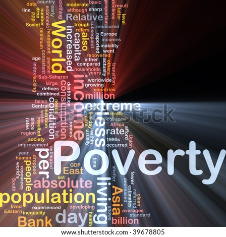 Word cloud concept illustration of income poverty