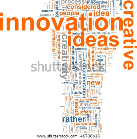 Word cloud concept illustration of innovation creative