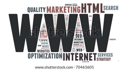 Word cloud concept illustration of INTERNET