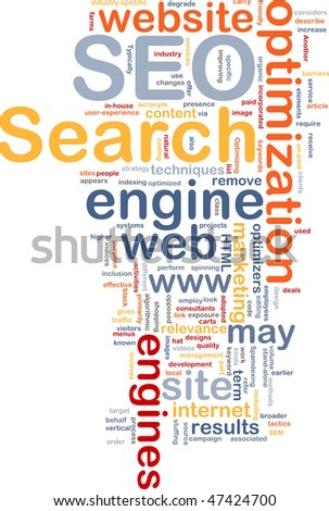 Word cloud concept illustration of SEO Search Engine Optimization