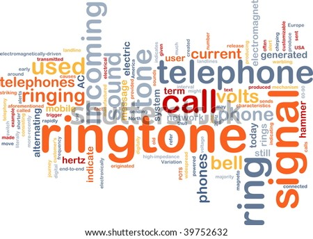 Word cloud concept illustration of telephone ringtone