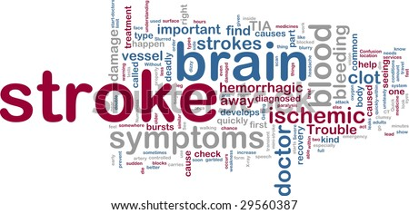 Word cloud tags concept illustration of stroke