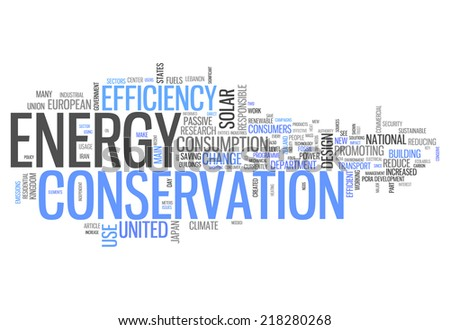 Word Cloud with Energy Conservation related tags