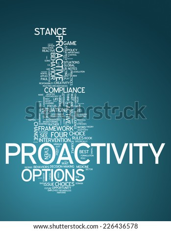 Word Cloud with Proactivity related tags
