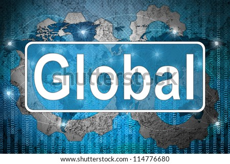 Word global on network background