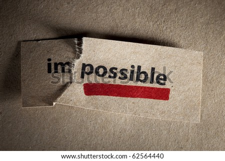 ShutterStock Word impossible transformed into possible Motivation