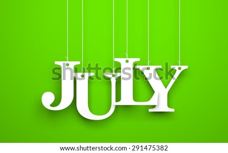 The word july