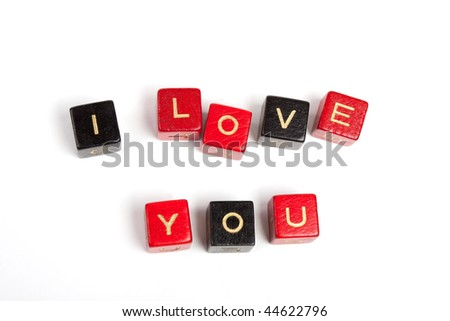 Word made by cubes letters. Isolated over white - stock photo