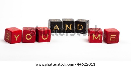 Word made by cubes letters. Isolated over white