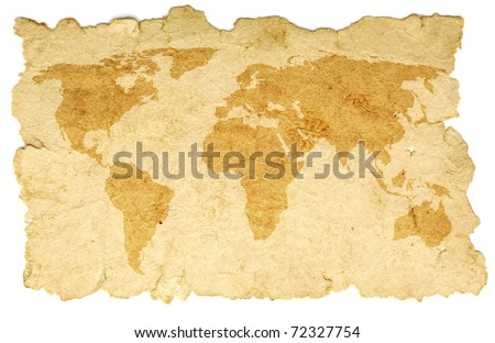 word map on old paper - stock photo