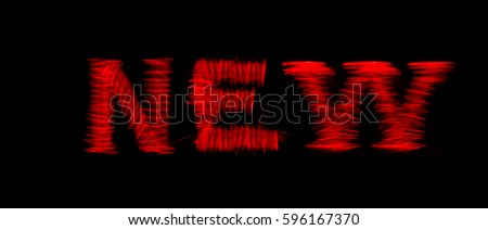 Word new glows neon photo #596167370
